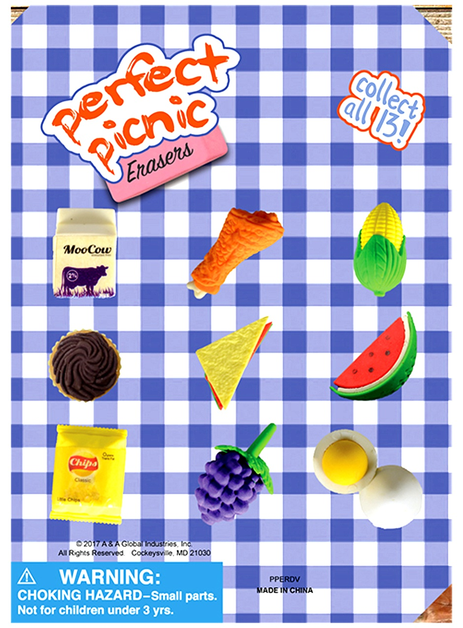 Perfect Picnic Erasers in 1