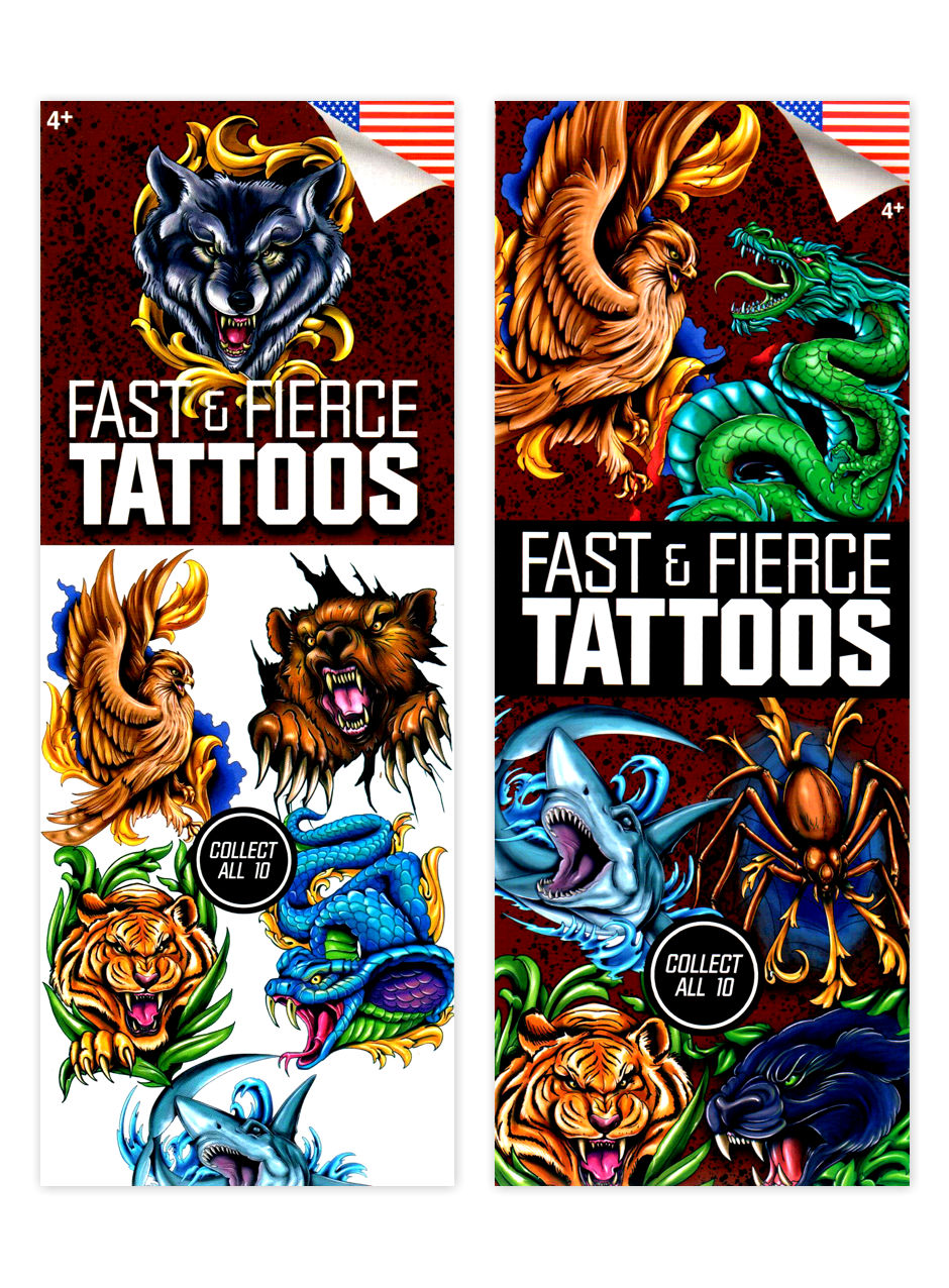 Fast & Fierce Boys 4 Tattoos (display)