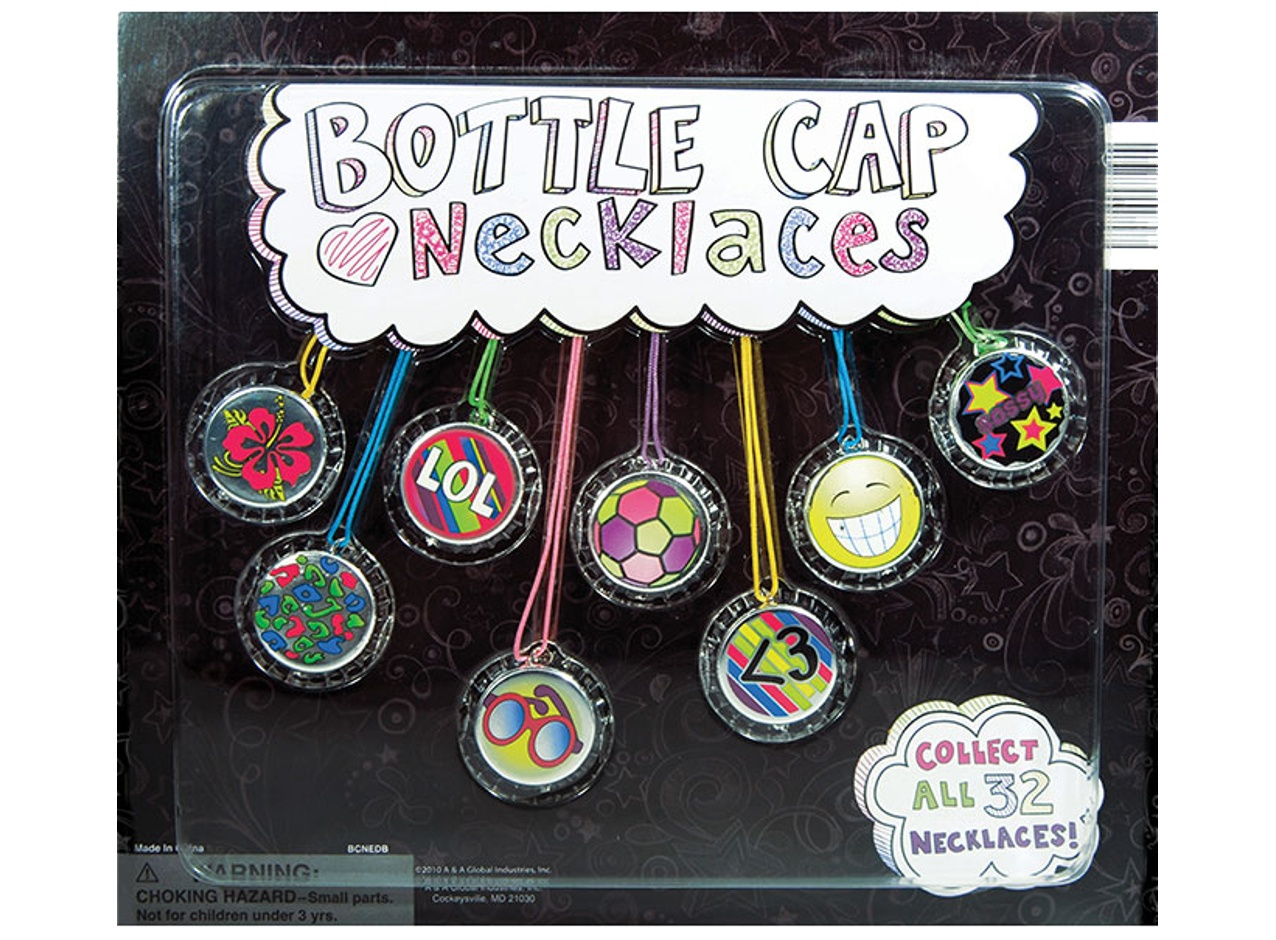Bottle Cap Necklaces 2''