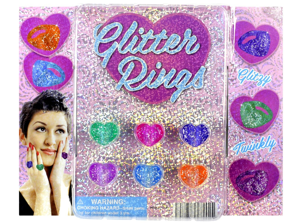 Glitter Heart Rings (display)
