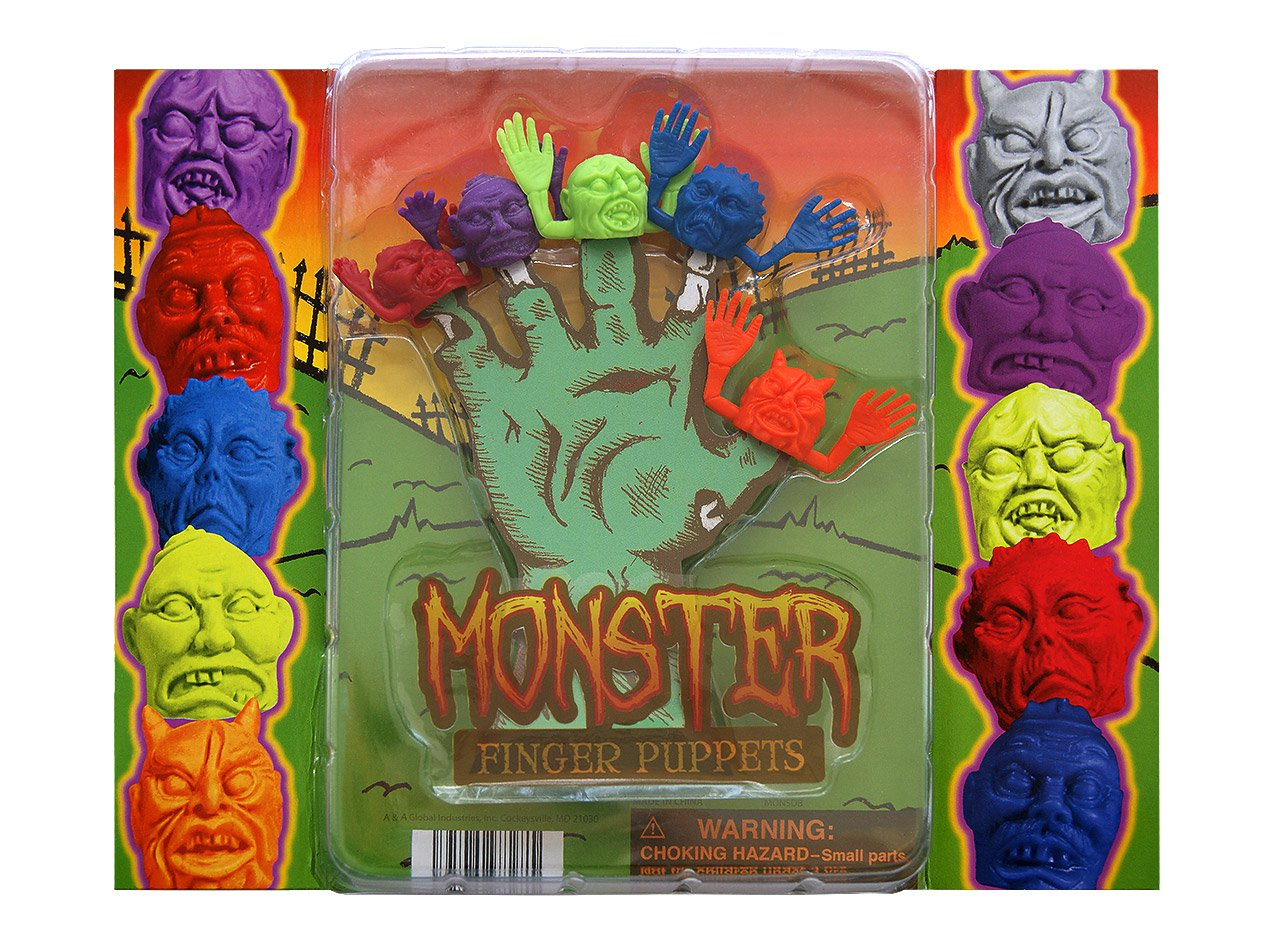 Monster Finger Puppets (display)