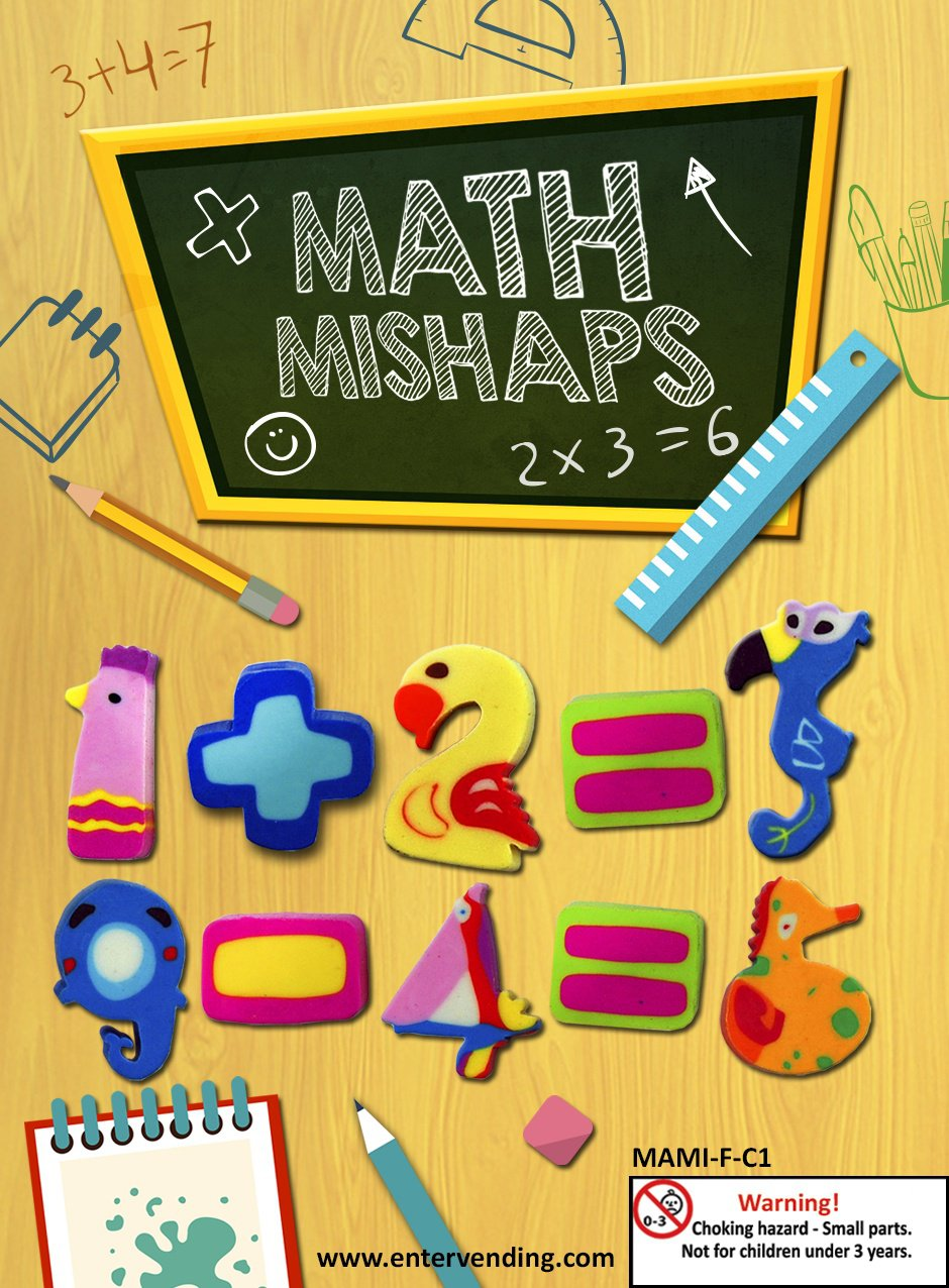 Math Mishaps Erasers Mix 1