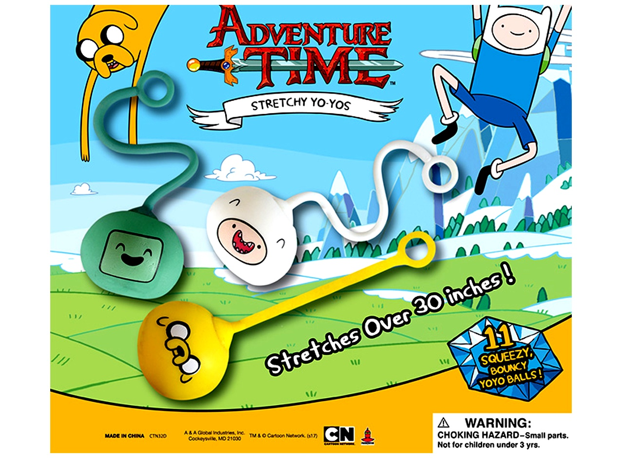 Adventure Time Stretchy Yoyo Balls 2''