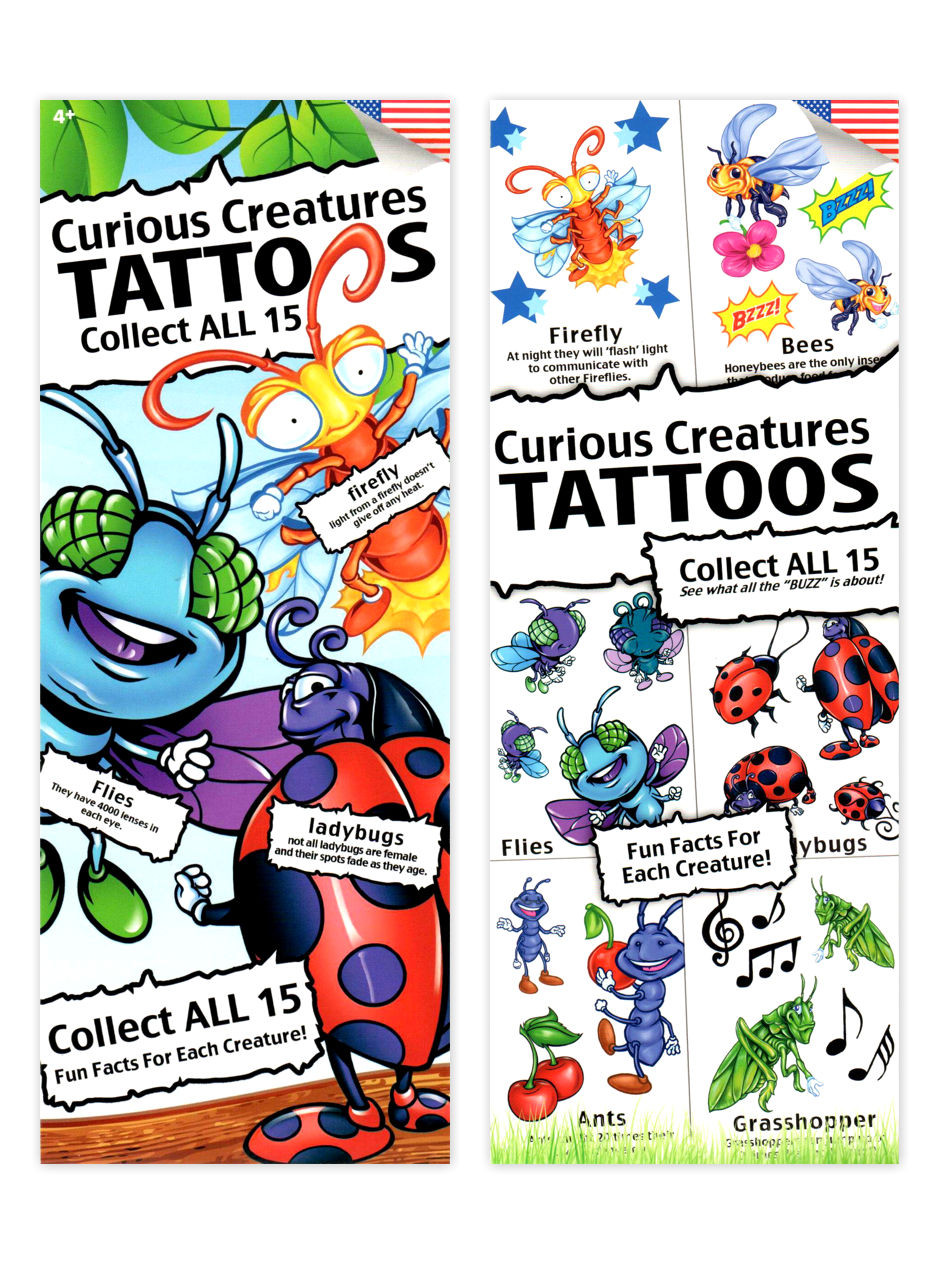 Curious Creatures Tattoos (display)