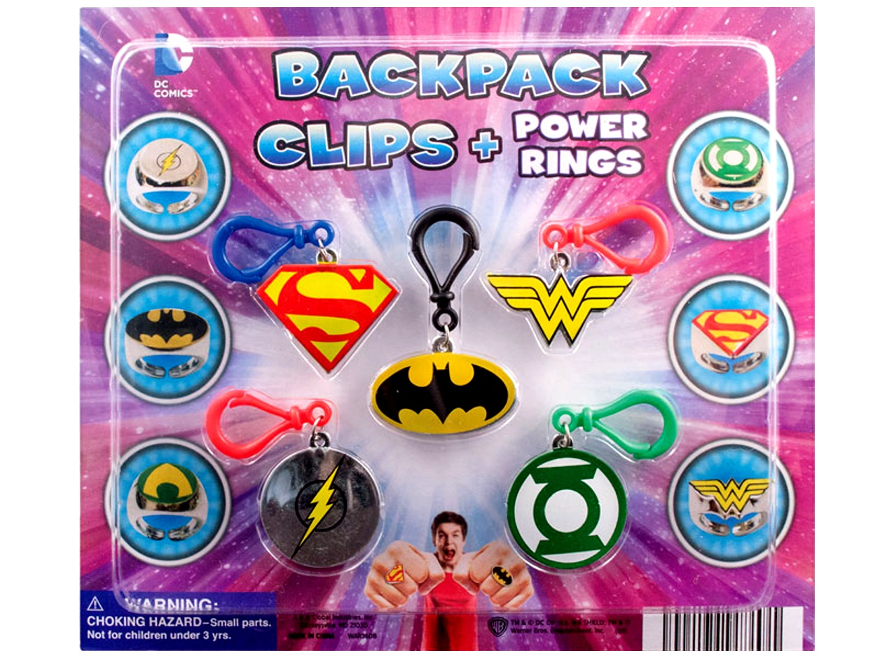 DC Comics Backpack Clips/Power Rings 2