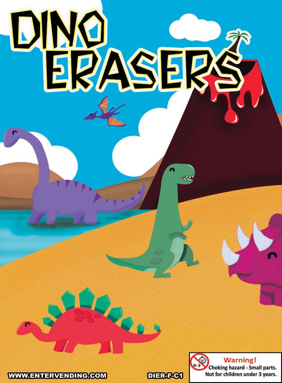 Dino Erasers (display)