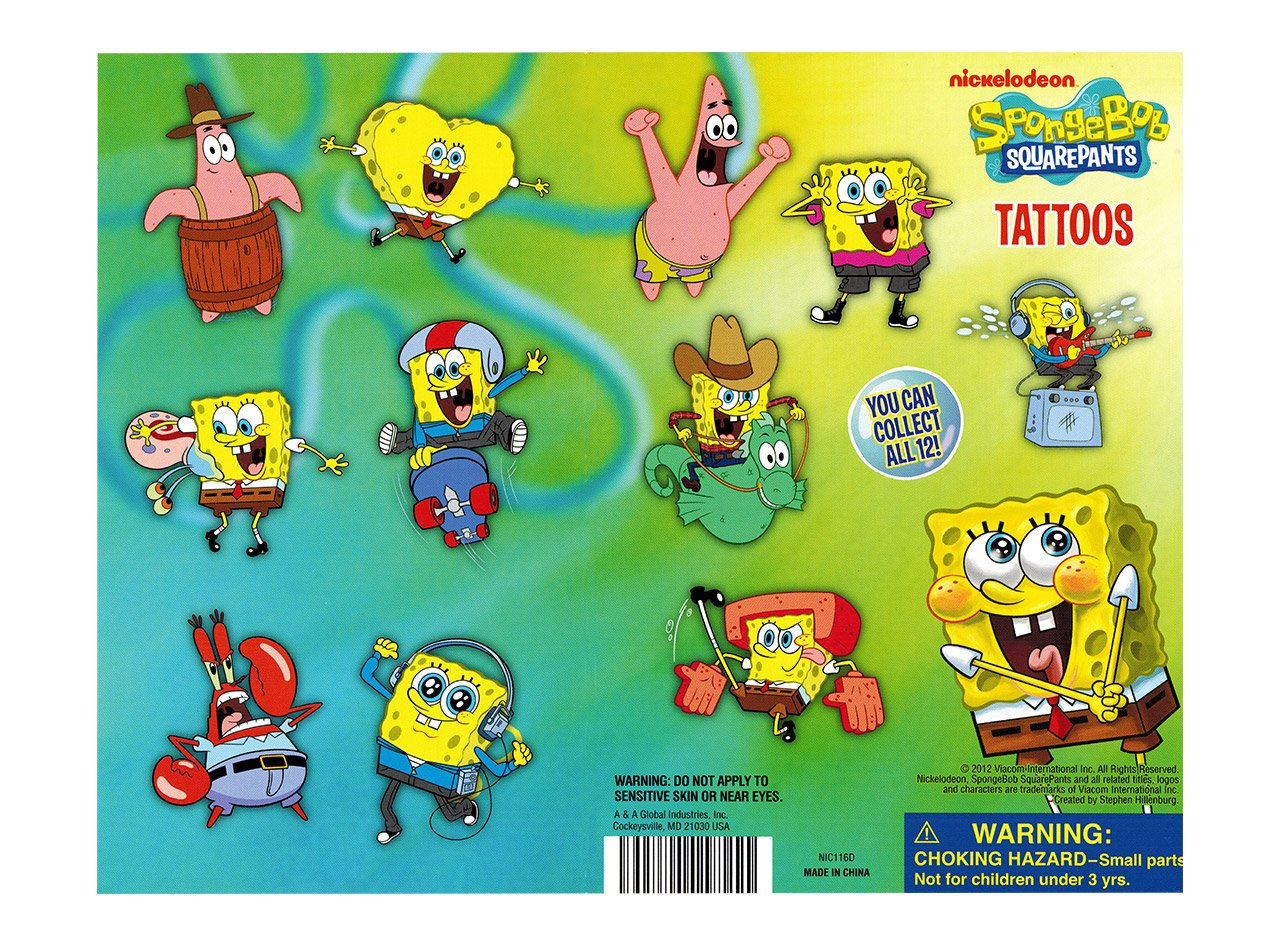 Spongebob Tattoos (display)