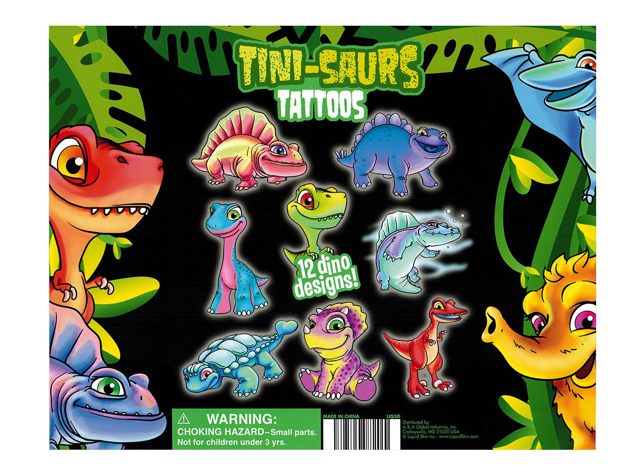 Tini-Saurs Tattoos (display)