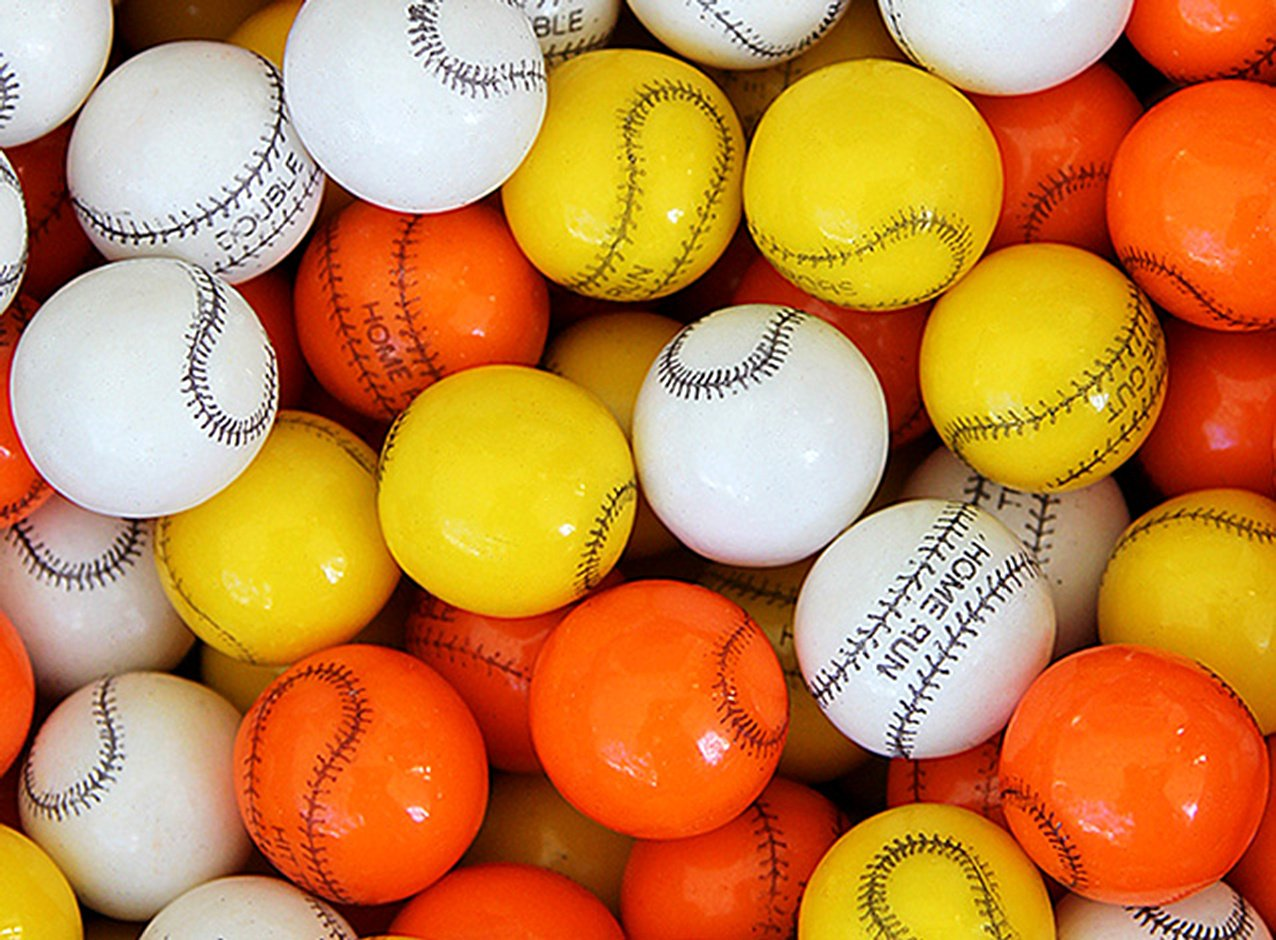 Baseball Assorted Gumballs 23 mm