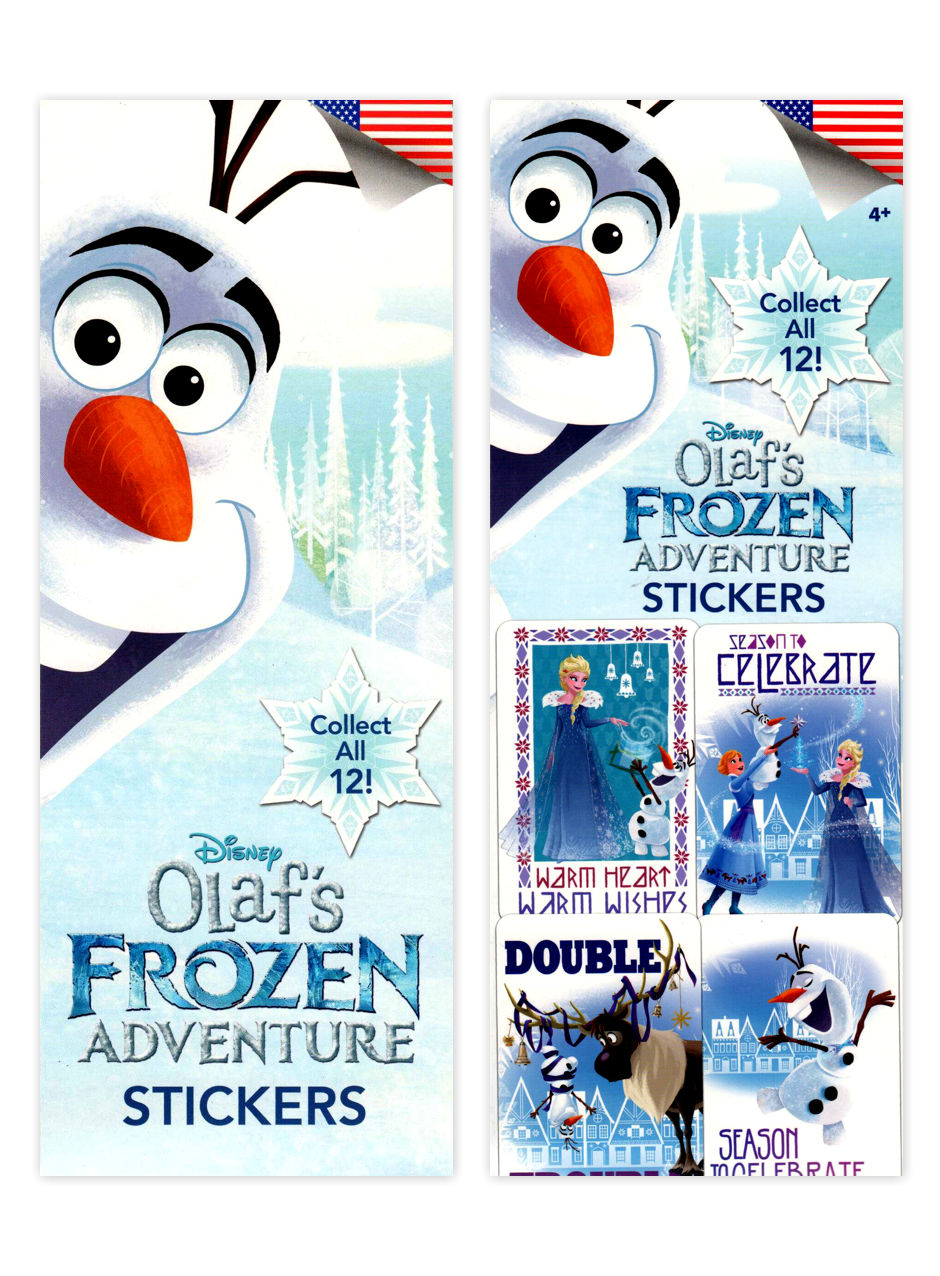 Disney Olaf's Frozen Adventure Stickers (display)