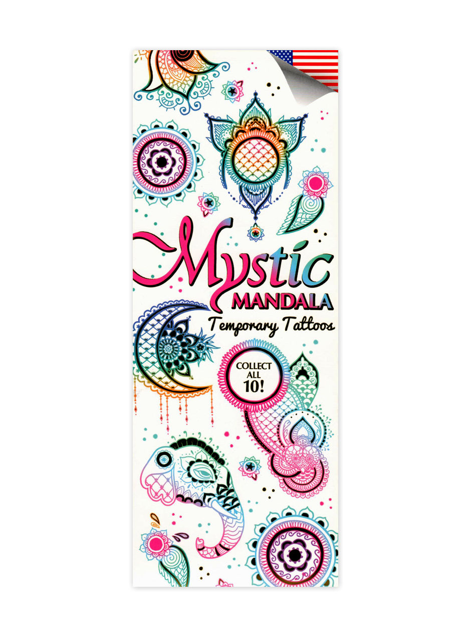 Mystic Mandala Metallic Tattoos (display)