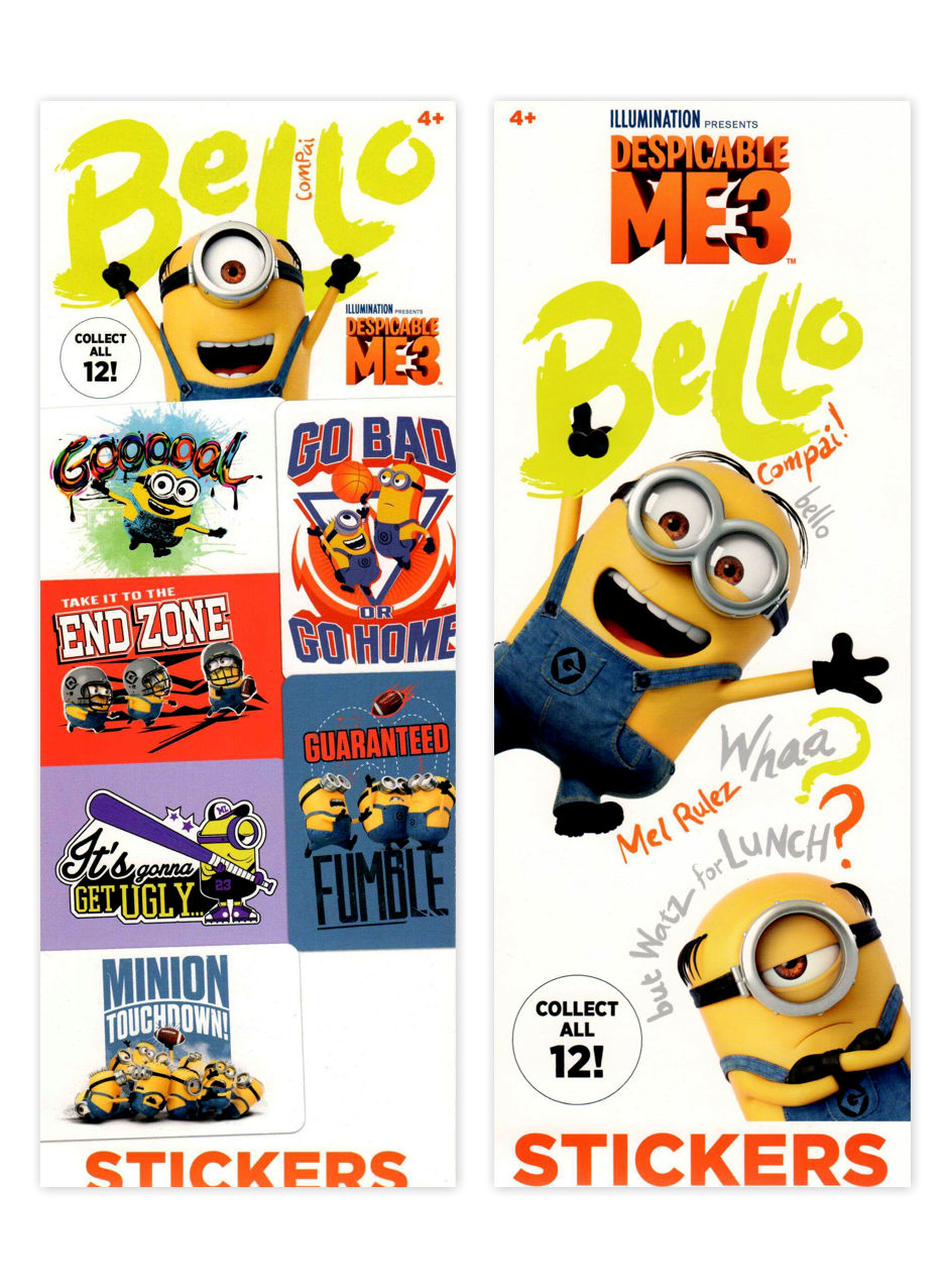 Despicable Me 3 Stickers (display)