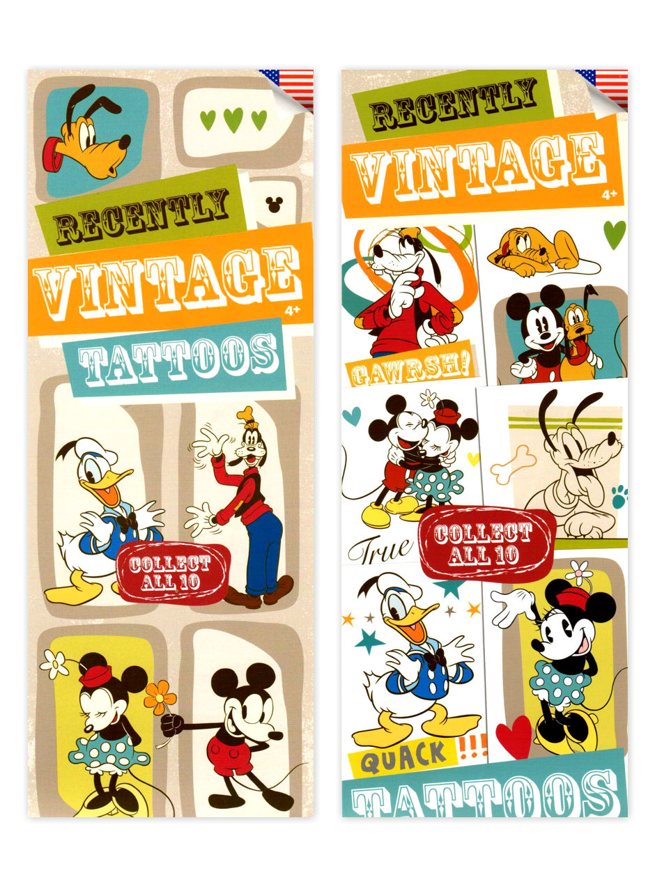 Disney Vintage Mickey Mouse Tattoos (display)