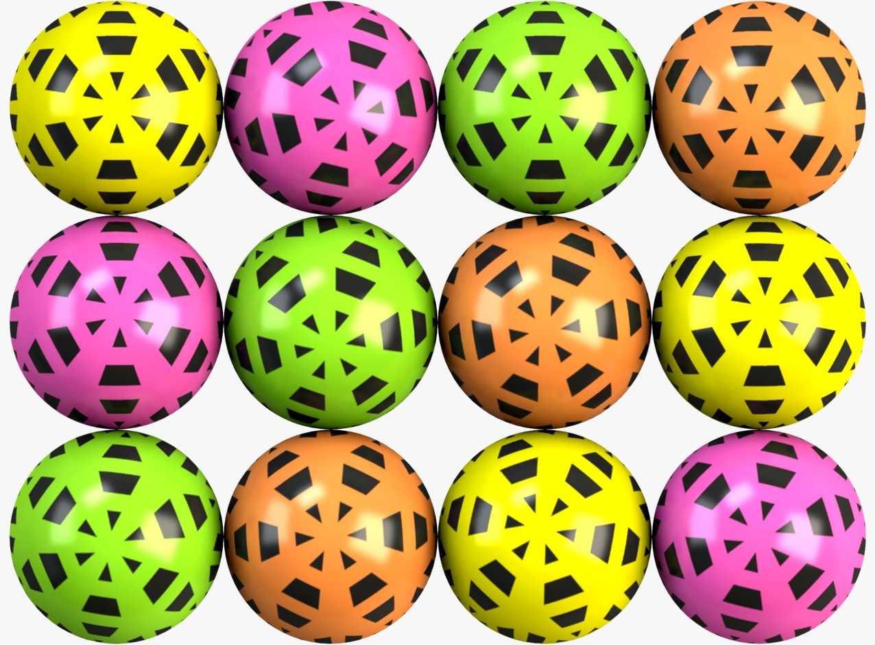 Flowery Hi-Bounce Balls 45 mm