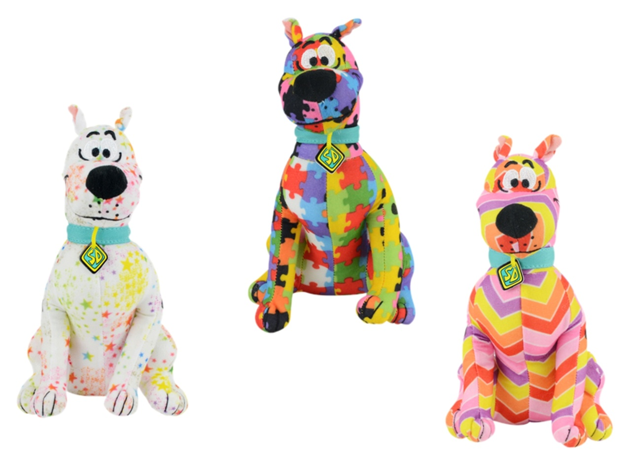 Small Crazy Pattern Plush Scooby 8