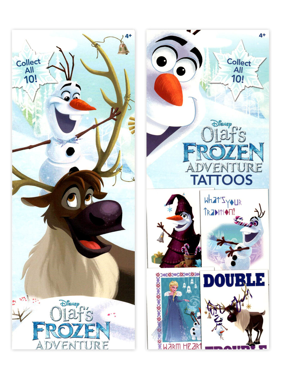 Disney Olaf's Frozen Adventure Tattoos (display)