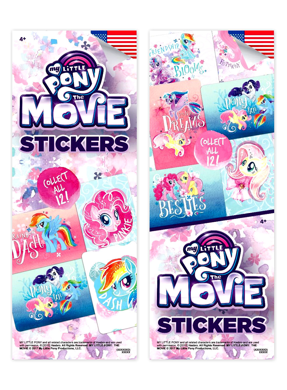 My Little Pony 2 Stickers (display)