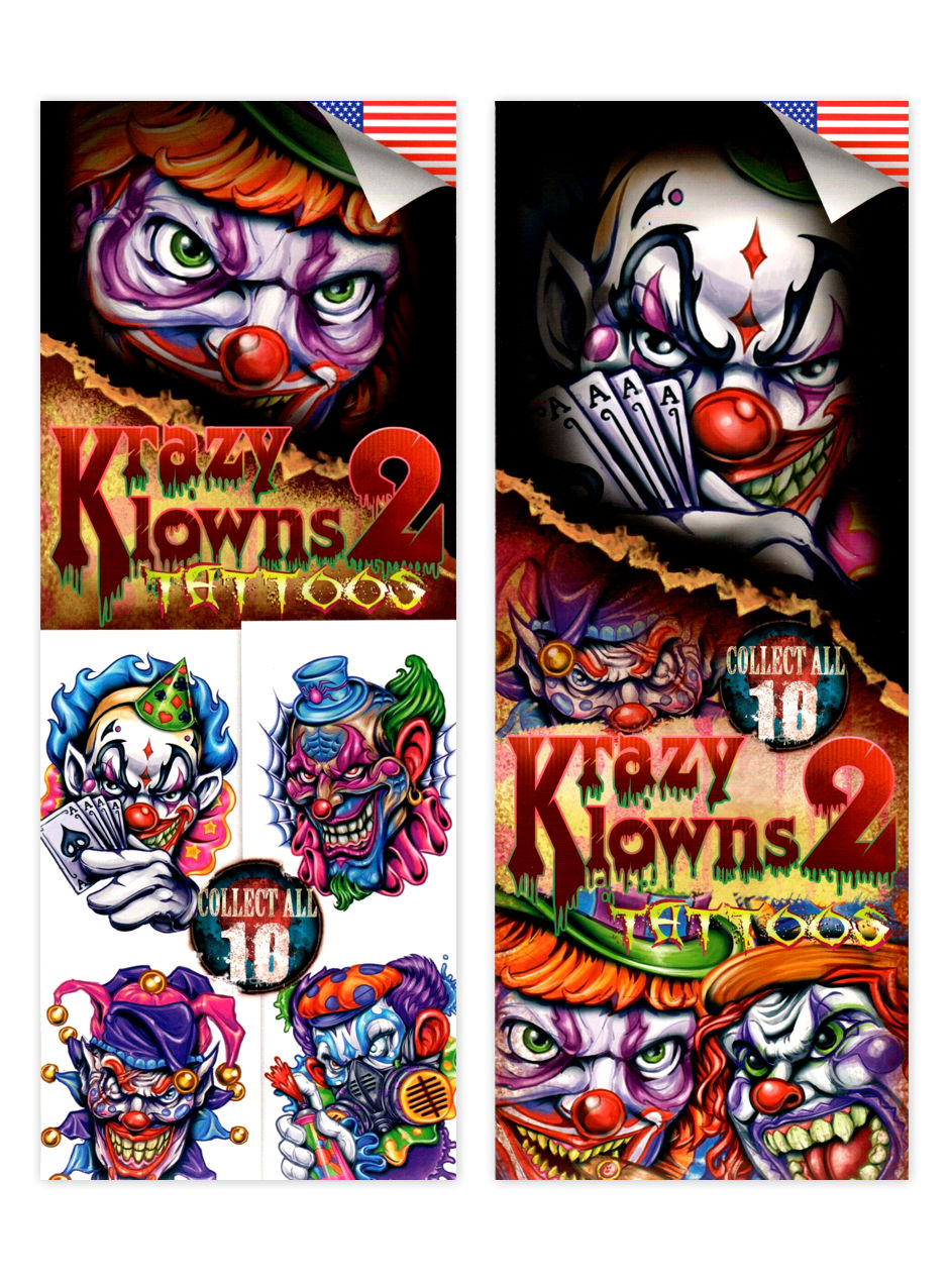 Krazy Klown 2 Tattoos