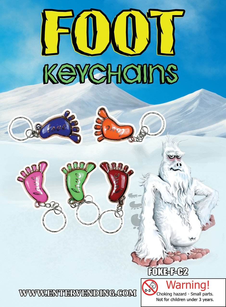 Foot Keychains (display)