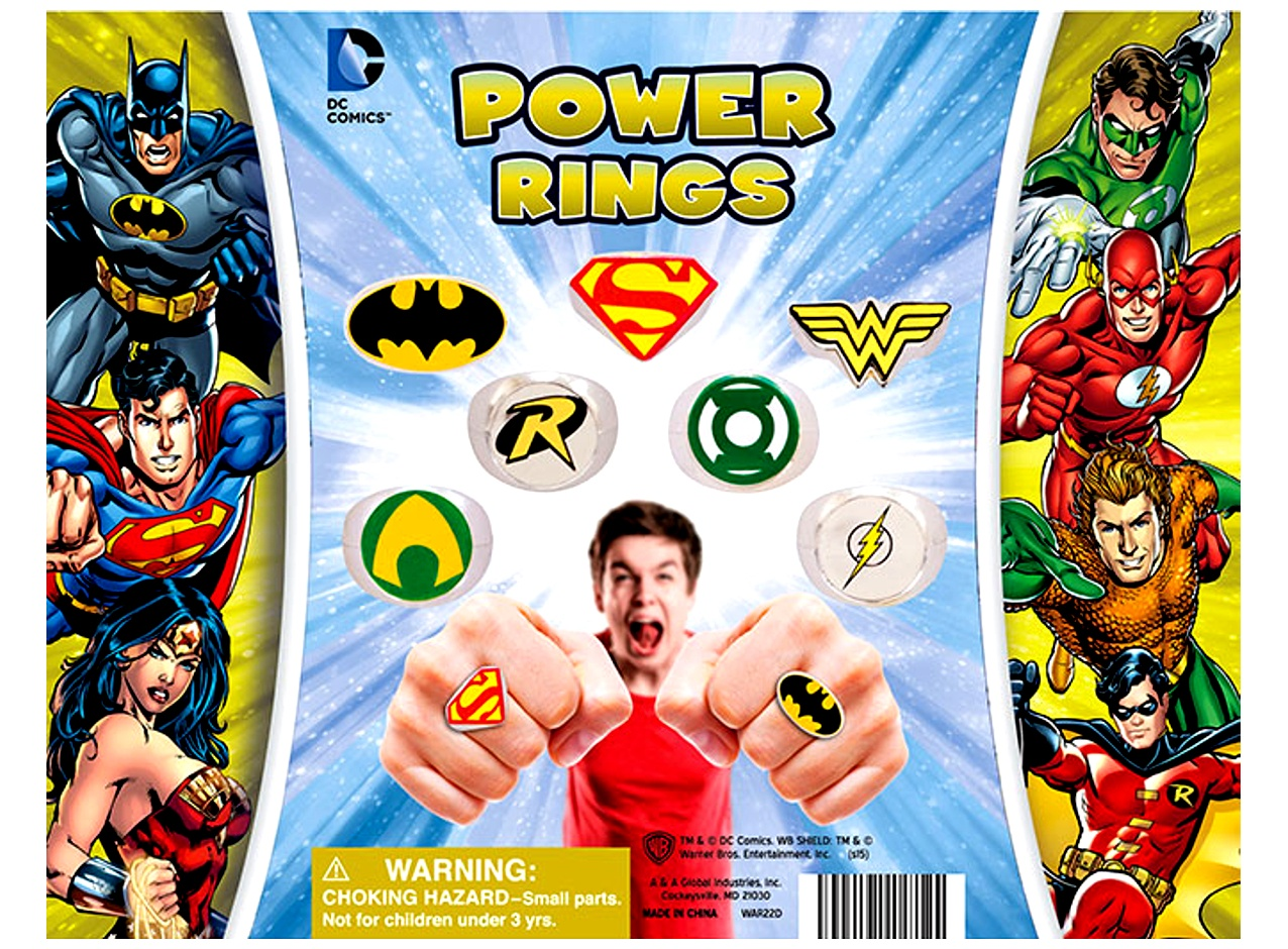 DC Comics Power Rings 2''