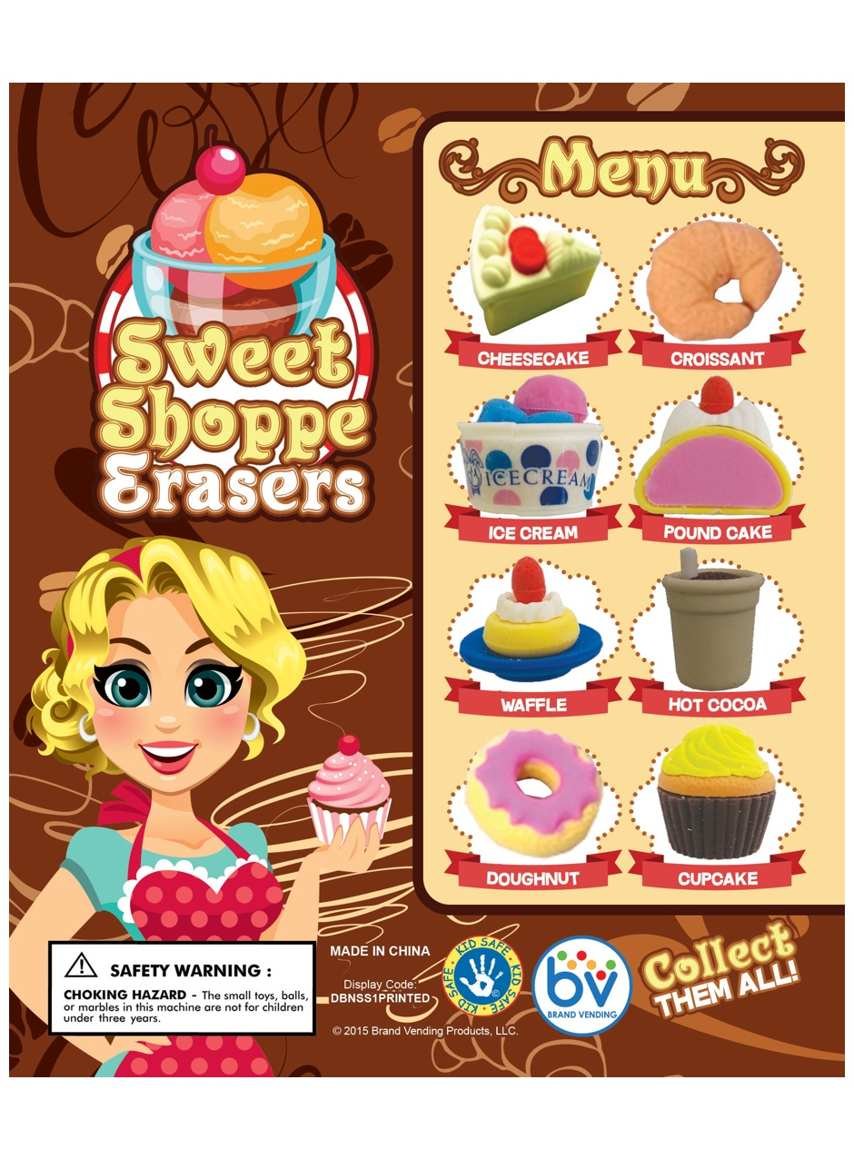 Sweet Shoppe Erasers in 1