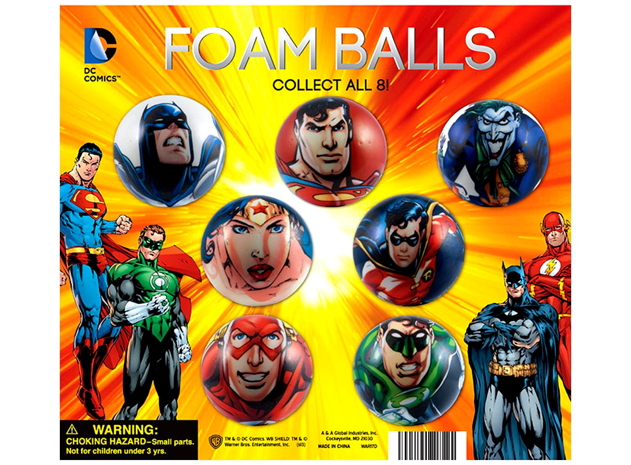 DC Comics Foam Balls in Bulk 2