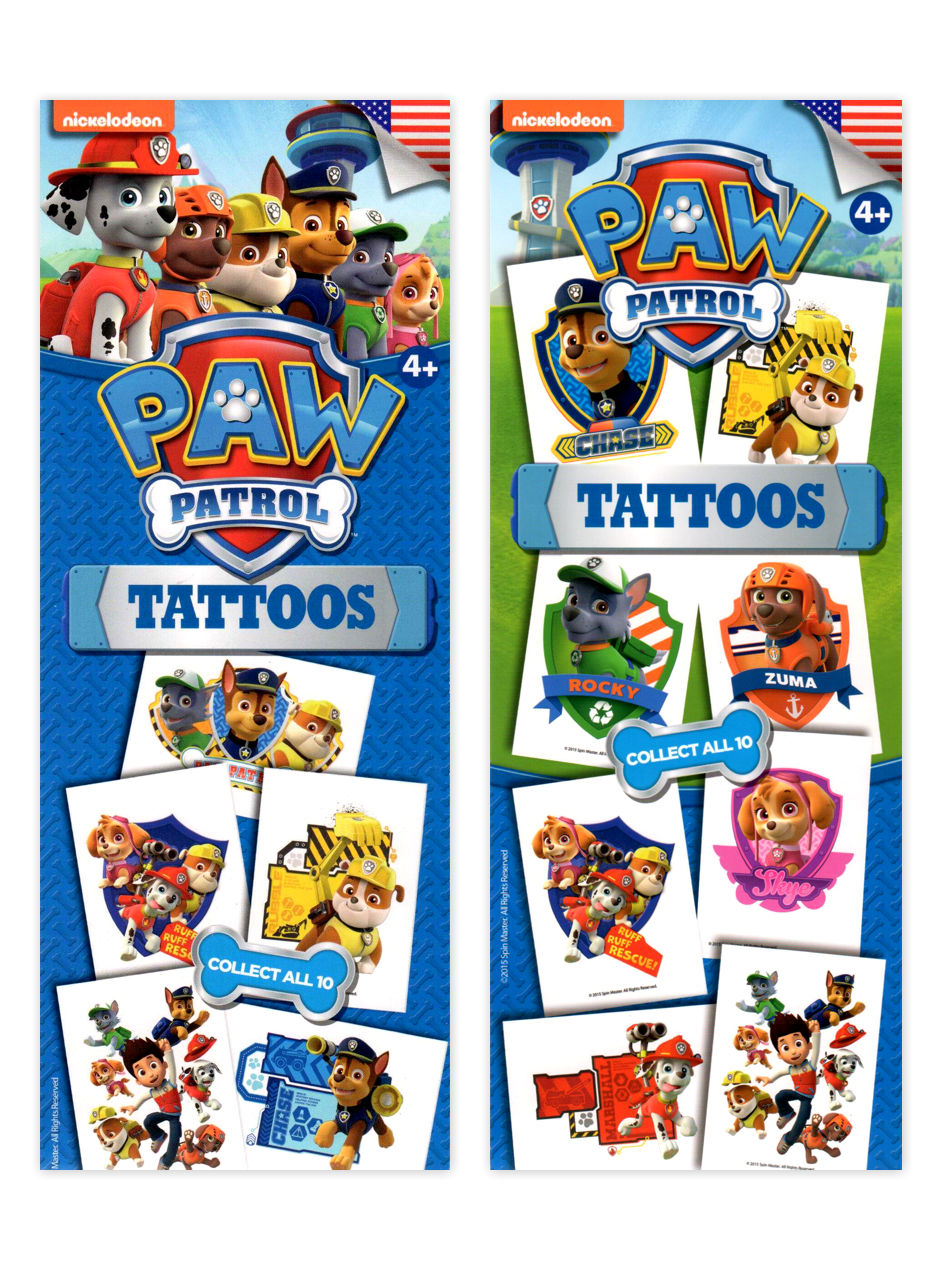 Paw Patrol Tattoos - Nickelodeon (display)
