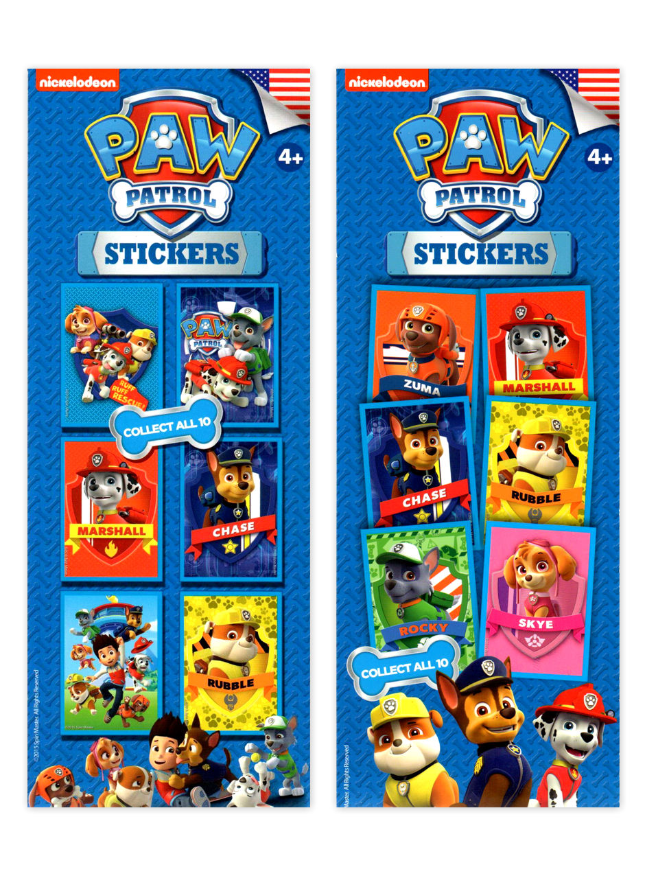 Paw Patrol Stickers - Nickelodeon