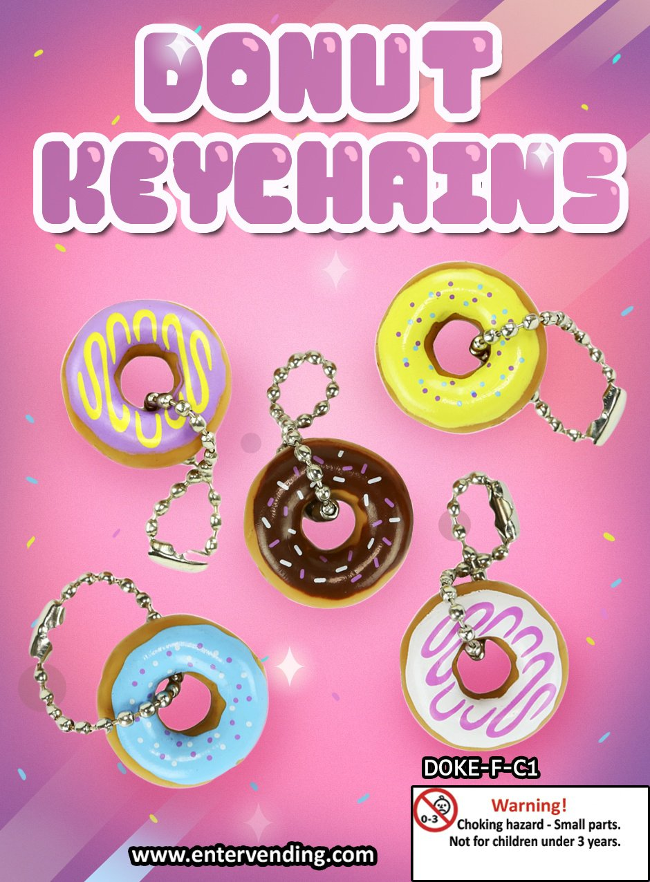 Donut Keychains (display)