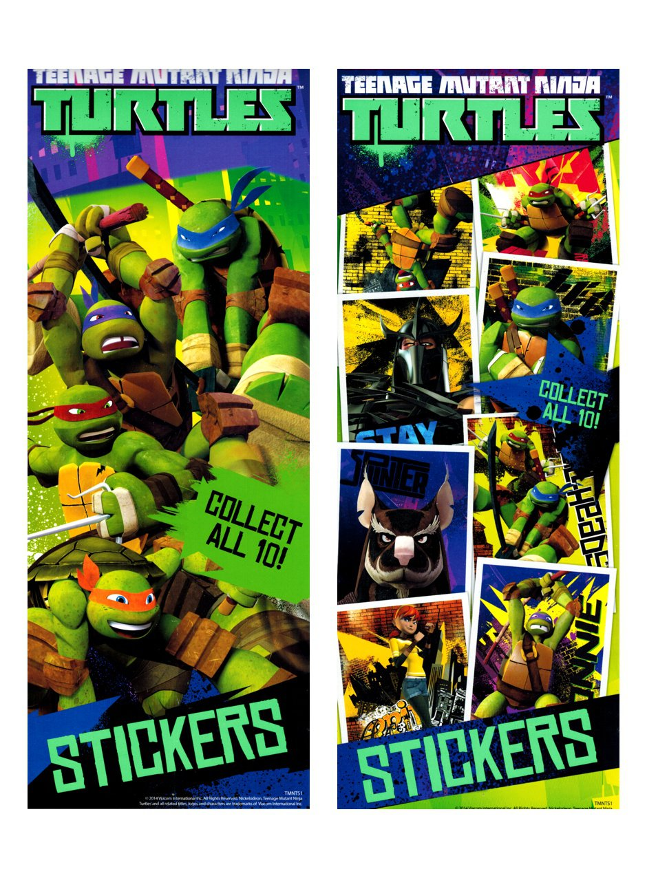 Teenage Mutant Ninja Turtle Stickers - Nickelodeon (display)