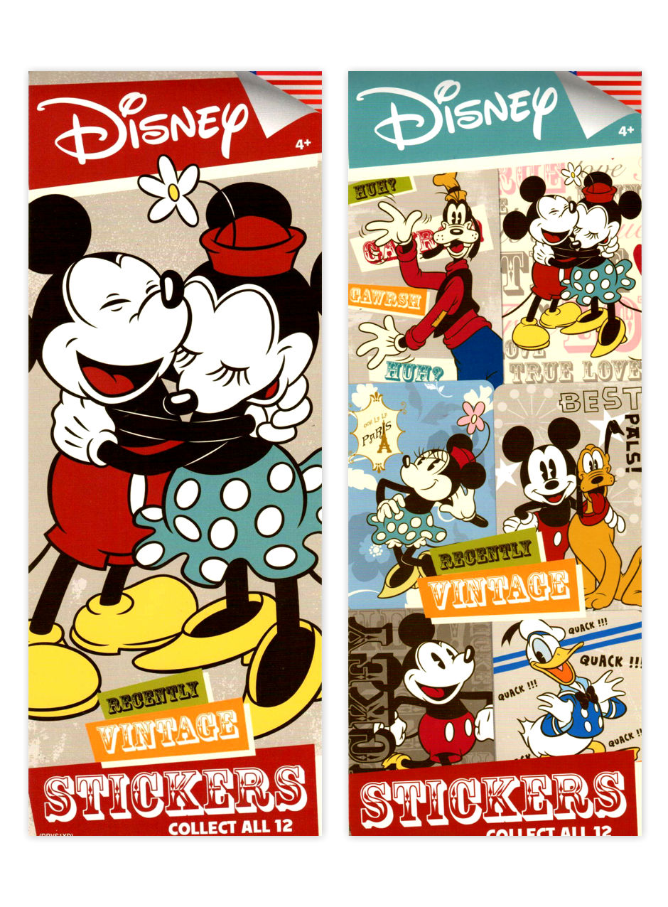 Disney Vintage Mickey Mouse Stickers (display)
