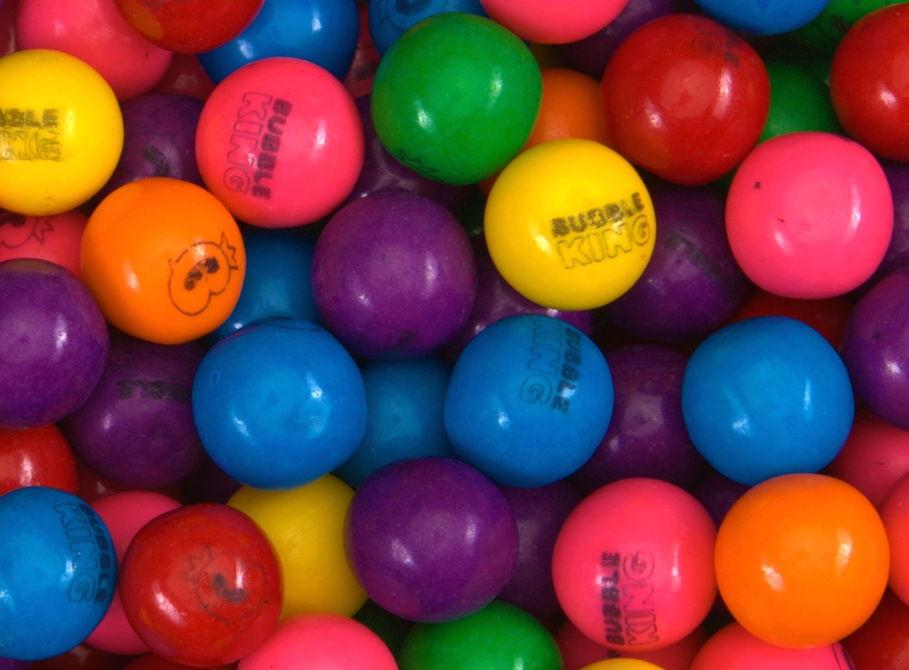 Bubble King Assorted Gumballs 25 mm