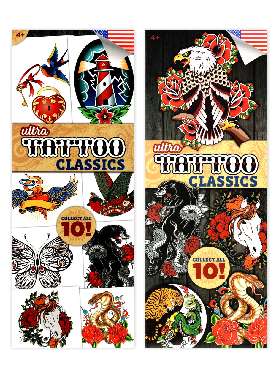 Ultra Tattoos Classic 19 Tattoos (display)