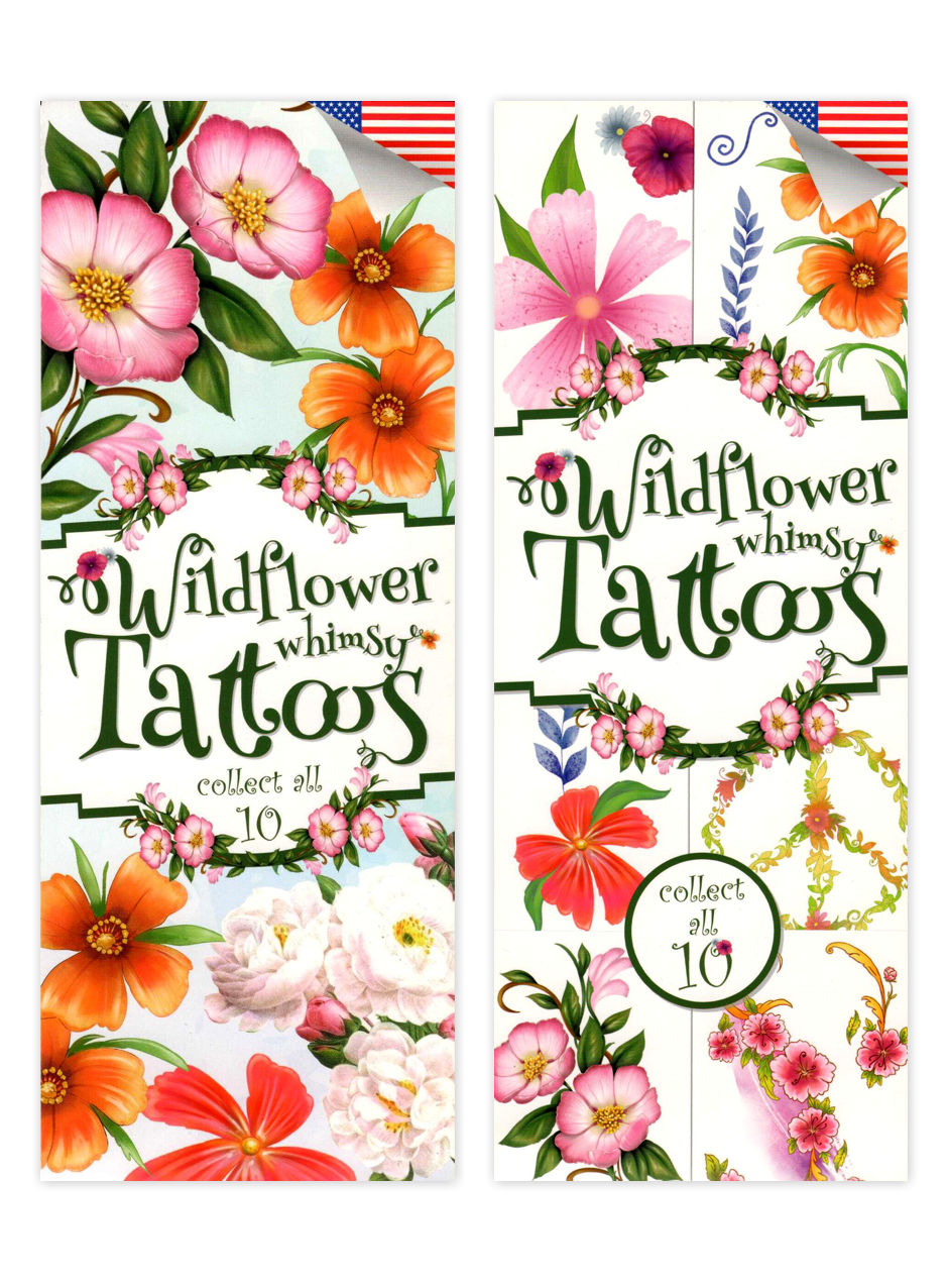 Wildflower Whimsy Tattoos (display)