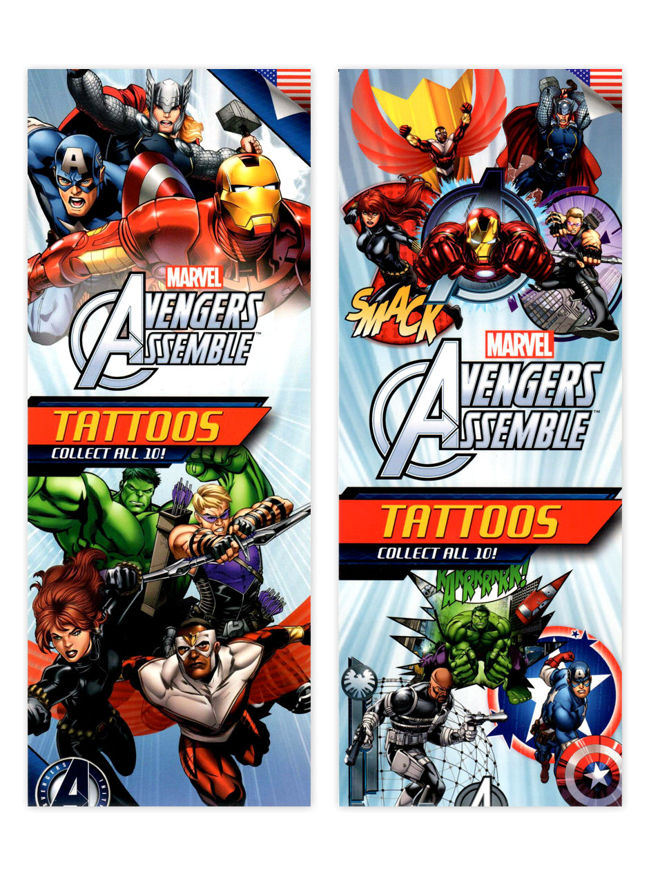 Avengers Assemble Tattoos 3 (display)