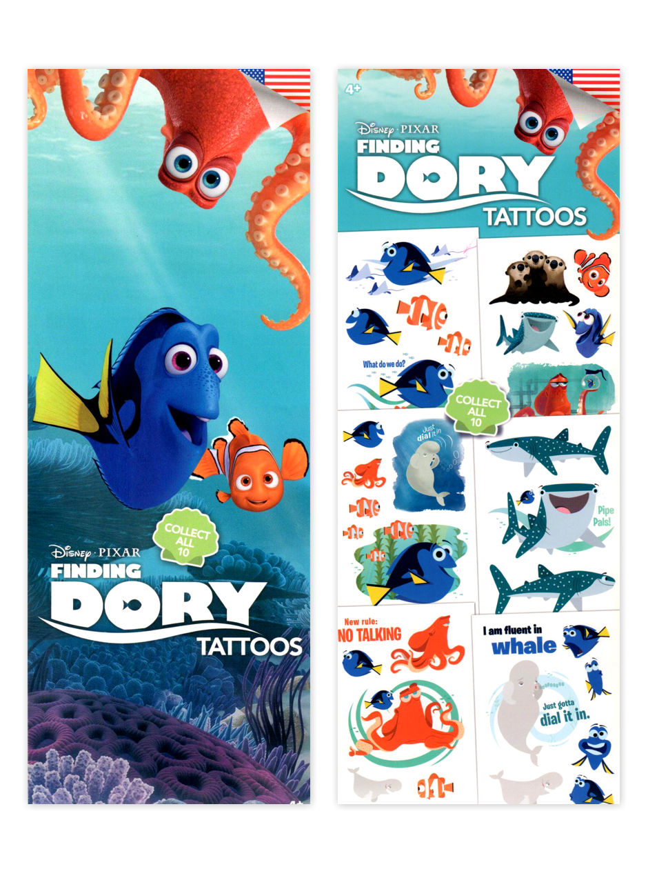 Disney's Finding Dory Tattoos (display)