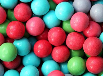 Sour Cotton Candy Gumballs 25 mm