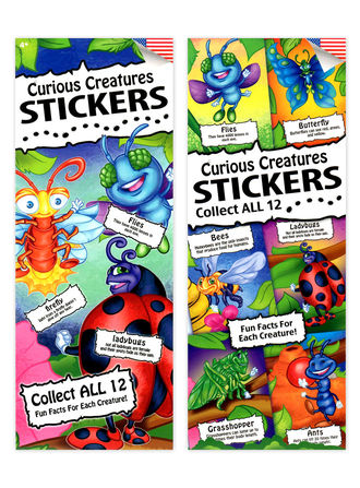 Curious Creatures Stickers (display)