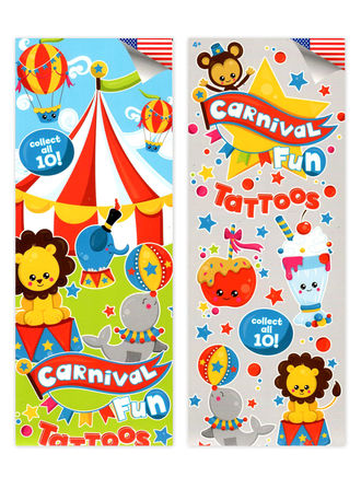Carnival Fun Tattoos