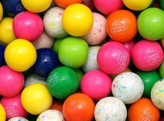 Assorted Fruit Gumballs (10 Flavors) 25 mm