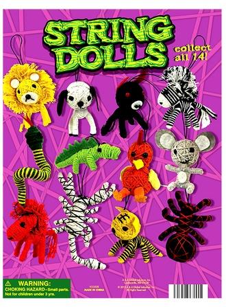 "Animal String Dolls & Mini-malz Mix 2"" vending supply"