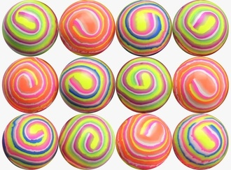 Glowing Stripe Balls 45 mm