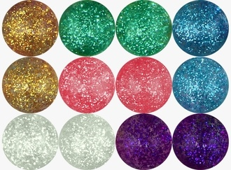 Glitter Hi-Bounce Balls 49 mm