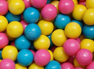 Cotton Candy Gumballs 25 mm