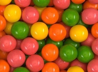 Bubble Brights Gumballs 25 mm gumballs in bulk