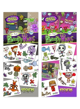 Boogily Heads Stickers