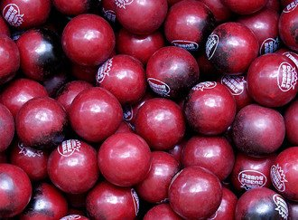 Black Cherry Gumballs 25 mm