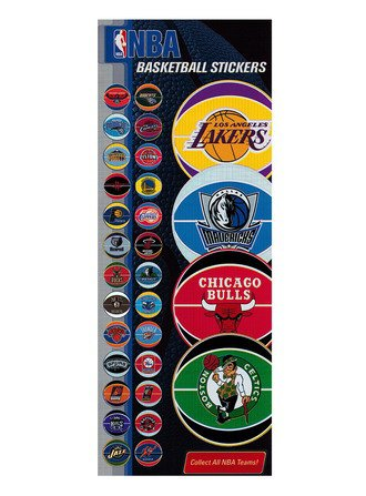 Stickers NBA Foil Basketball (display)