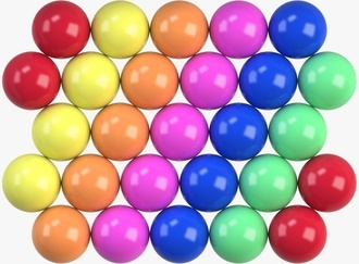 Hot Colored Hi-Bounce Balls 27 mm