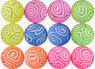 Glowing Stripe Hi-Bounce Balls 49 mm